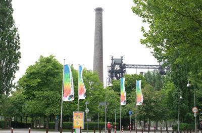 ドイツ-ルクセンブルク-フランス 鉄道とレンタカーの旅 個人旅行 6/1 デュイスブルク製鉄所跡