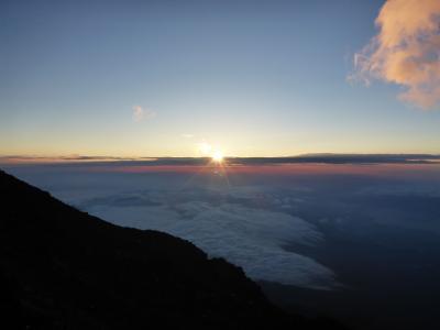 友人と富士登山