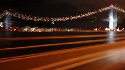 関門大橋の夜景