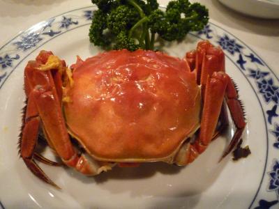 横浜中華街で上海蟹を食す!