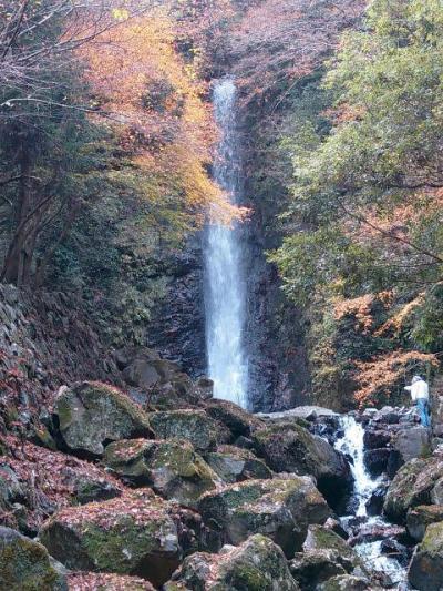 紅葉の養老の滝