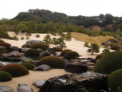 足立美術館で、日本庭園を楽しむ。