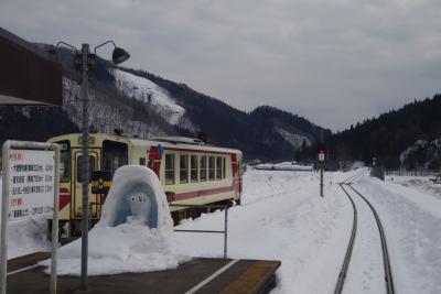 雪まだ残る初春の秋田内陸縦貫鉄道を全線乗ってきました。