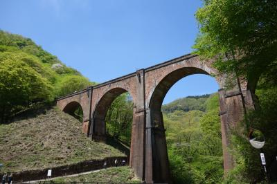 新緑を巡る群馬の旅 1日目 妙義山、めがね橋、雲場池、万座温泉