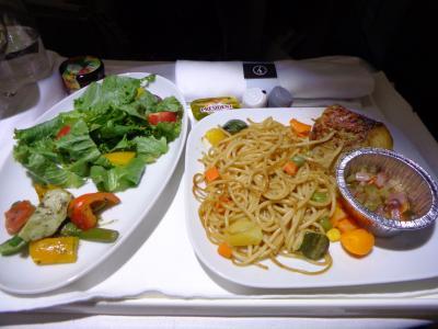 LH595(LOS-FRA) ビジネスクラス機内食