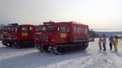 2012年1月21日~22日:今年は3回!! 菅平スキー旅行(2回目) スノーキャットに乗ってみました
