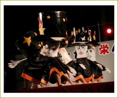 Solitary Journey [1623] 抱腹絶倒~♪お腹に顔を描いて腰を振ったりお腹揺らしてダンス、ダンス!<2015豊栄へそ祭り>広島県豊栄町