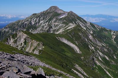 北アルプス 笠ヶ岳 クリヤ谷を登り笠新道を降る