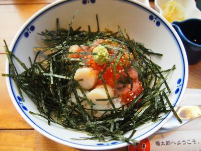 福太郎 天神テルラ店1階 天神で明太子食べ放題の和定食ランチ カフェ&ストア