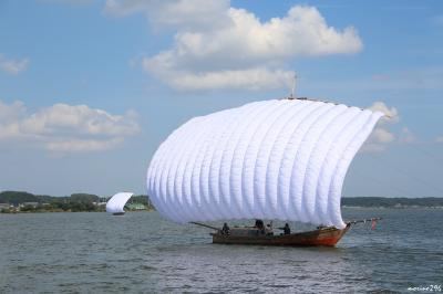 霞ヶ浦の帆引き船の見学と牛久のシャトーカミヤでBBQ