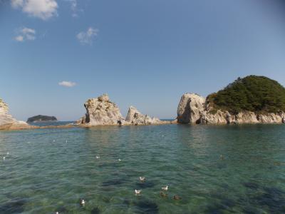 三陸復興国立公園・浄土ヶ浜の白い岩