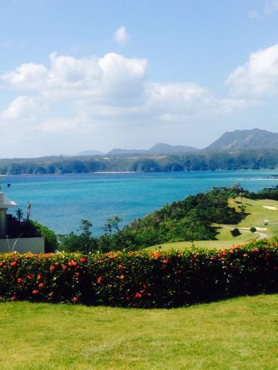 初めて見た沖縄ブルーの海( ´ ▽ ` )
