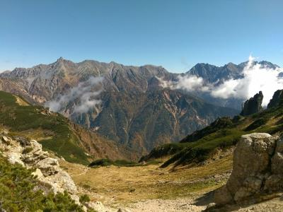 山旅紀行・北アルプス笠ヶ岳 その2 ひたすら9時間歩いて‥笠ヶ岳(2898m)に登頂。