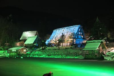 """""""雪景色の飛騨高山に行ってきました~ Part2 """" 。。。 """"高山の町並み・飛騨の里のライトアップを楽しみ。。。宿泊は、高山桜庵です"""""""