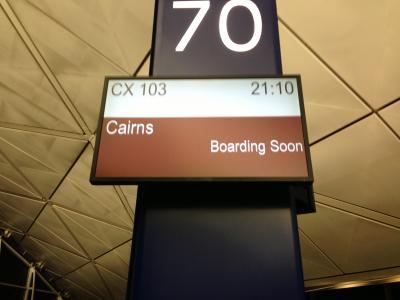 キャセイパシフィック航空でブリスベーンに行きました