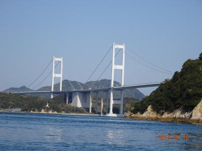 小倉松山フェリーで松山へ ②尾道からしまなみ海道を戻り松山へ