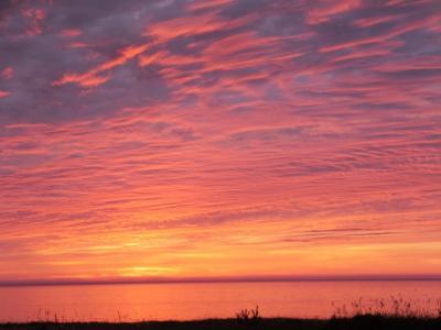 佐渡の夕陽は最高でした。