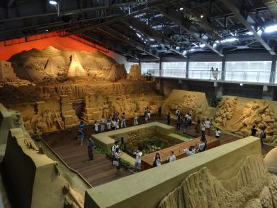 鳥取 砂の美術館から三朝温泉