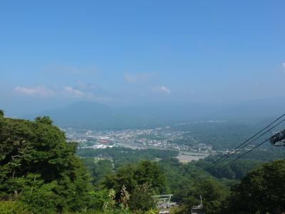 軽井沢で夏山のリフト