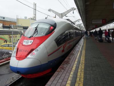 2016夏ロシアその5 ~ロシアの新幹線「サプサン号」でサンクトペテルブルクへ