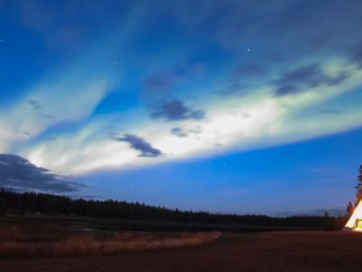 運を天に任せるしかない、イエローナイフのオーロラ6日間…三人三様のオーロラ写真。