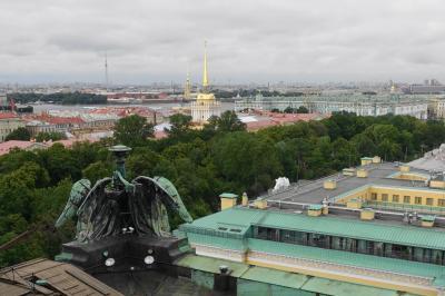 2016夏ロシアその6 ~イサク聖堂の回廊からサンクトペテルブルクの概要をつかむ