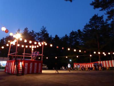 夏の優雅な浅間高原バカンス♪ Vol14 ☆北軽井沢:高原の盆踊り♪愛犬と一緒に踊る♪