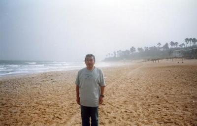 バンジュール(バンジュル)の海岸の朝@ガンビア/西アフリカ