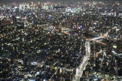 スカイツリーと東京の街を楽しみました。