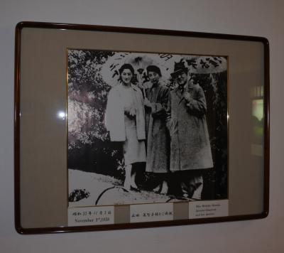 富士屋ホテル ☆ 西洋館の廊下に展示されているポスターと写真