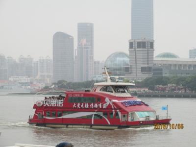 上海の2016年国慶節・東金線渡船
