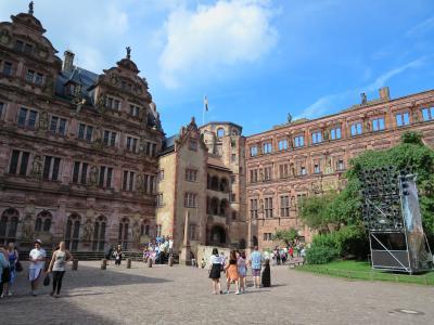 2014年夏【5】ANAザ★バーゲン・ビジネスクラスで行く・フランクフルトの旅(ネッカー川沿いに広がる「ハイデルベルク」の街歩き、丘の上に聳える「ハイデルベルク城」から眺める街並み)