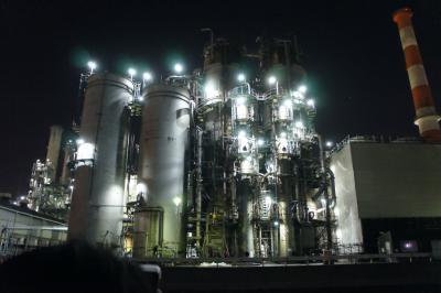 肉食系交通船で行く工場夜景☆街の明かりがキレイね☆横浜