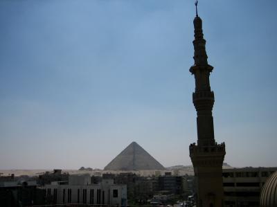 地球一周の船旅 エジプト あまりにも見学時間が短過ぎたピラミッド観光のオプショナルツアー