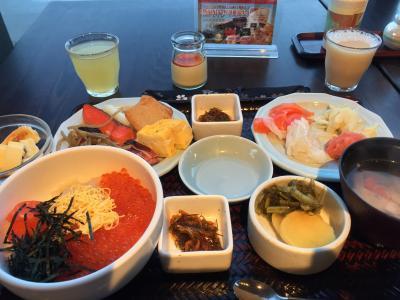 国内旅行・日本一朝食の美味しいホテルで海鮮を食べ尽くした旅