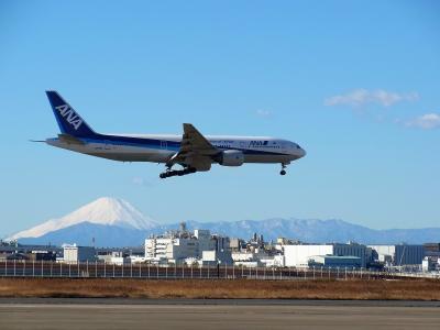 年末の東京旅行(その1) 初日は綺麗な富士山を各地から見ました(2016年12月)