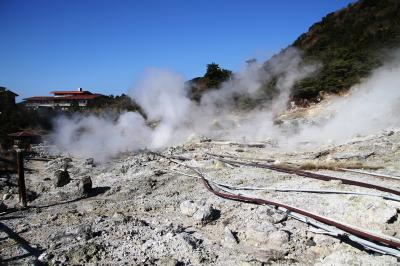 強烈な硫黄臭がする雲仙地獄