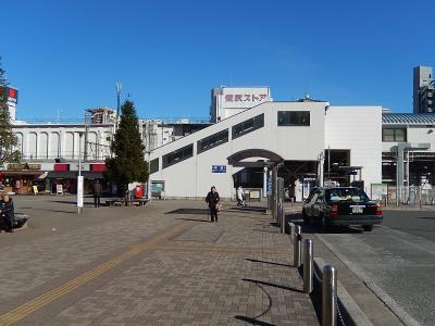 上福岡駅付近の風景