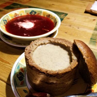 【5】底なし胃袋・食べておかなくちゃ伝統料理ツェペリナイの大きさに目が点!(リトアニア:ビリニュス)☆バルト三国10日間