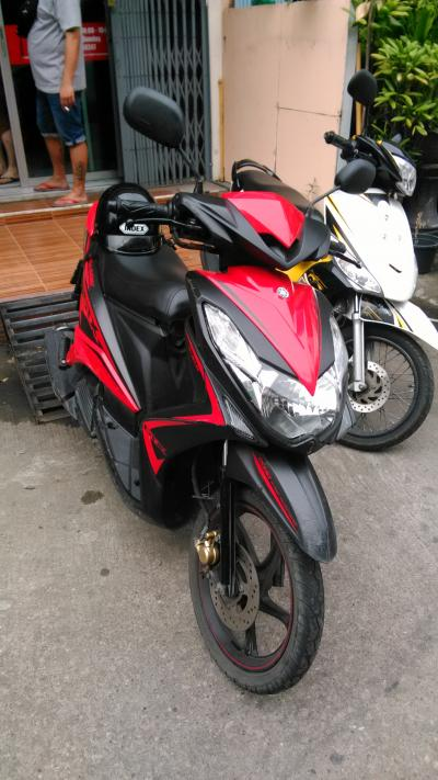 レンタルバイクでチャチュンサオへGOでござる。