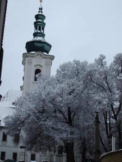 娘と中央ヨーロッパ気まま旅 3・・・雪の中、プラハをうろうろ