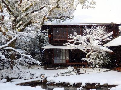 旧山縣有朋別邸『無鄰菴』の雪景色