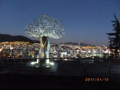 釜山の夜景名所はここだ!☆天馬山路 / 新しく整備された忠武洞コルモク市場のコカルビ通り