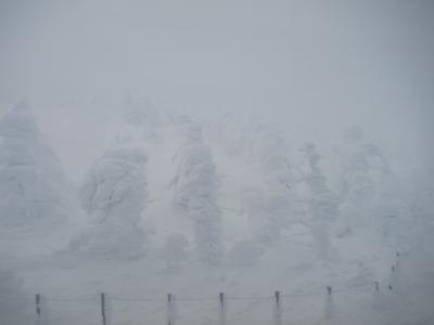 バスツアーで雪の大内宿と樹氷を観に☆2 樹氷編