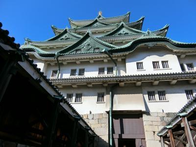 週末、名古屋めしの旅 (1日目)名古屋城、ひつまぶし、夜景と手羽先