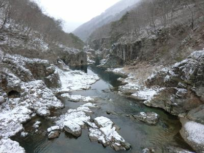 冬の湯西川温泉・その1 龍王峡スノープチハイク。