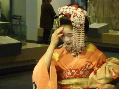 京都の舞妓さんと、実際に触れあえる良い機会。