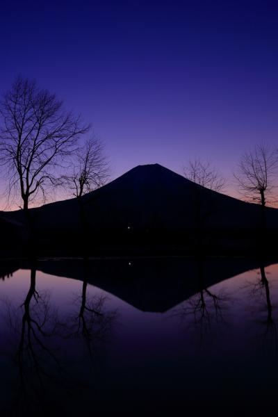 静岡 ふもとっぱらと山中湖からの富士山