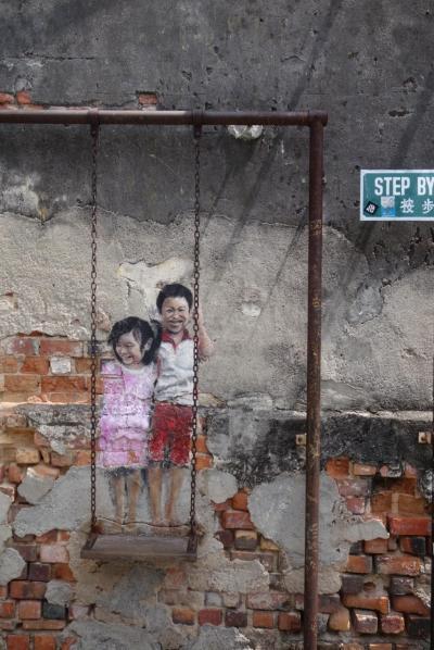 20170306-2 ペナン Street Artとか、Jetty(海上家屋)とか、玄母殿とか → 最後の夜市