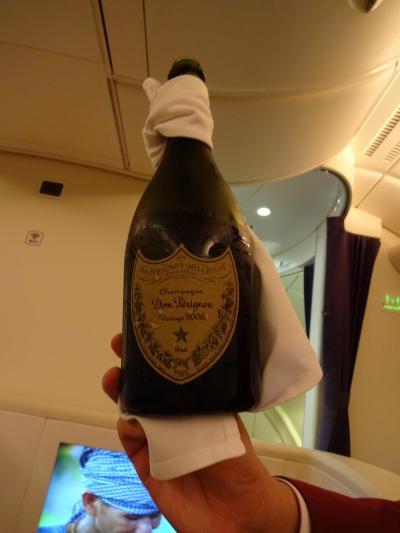 タイエアー380・ファーストクラス搭乗記 (BKKの休日からの復路)